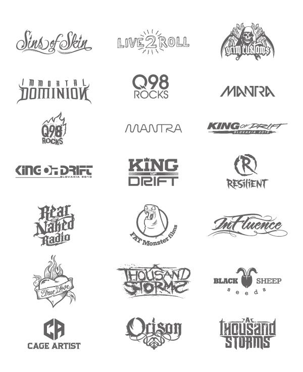 Type Treatment Logo Entertainment Logos Type