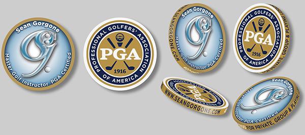 logo Graphic Design. corporate mark Golf Pro identity