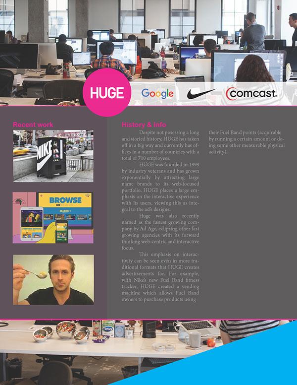 Ad Agency Profiles on SCAD Portfolios