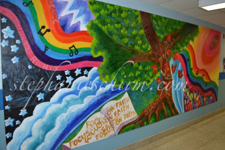 School murals on behance for Elementary school mural ideas