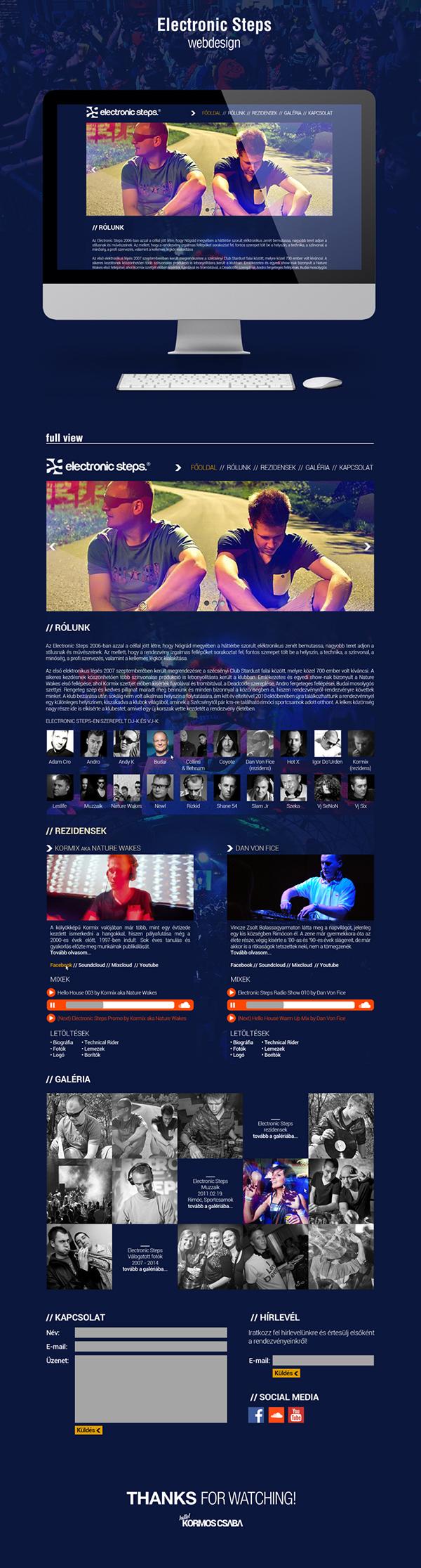 Webdesign party mix Label festival electronic steps andro budai shane54 muzzaik weboldal photo