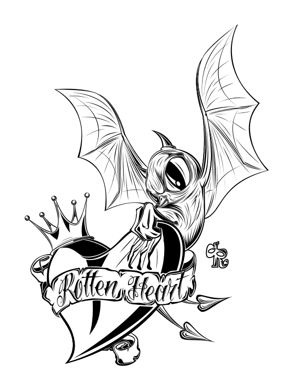 rotten heart on behance Tattoo with Heart Banner nothing just a crowned heart and a swallow