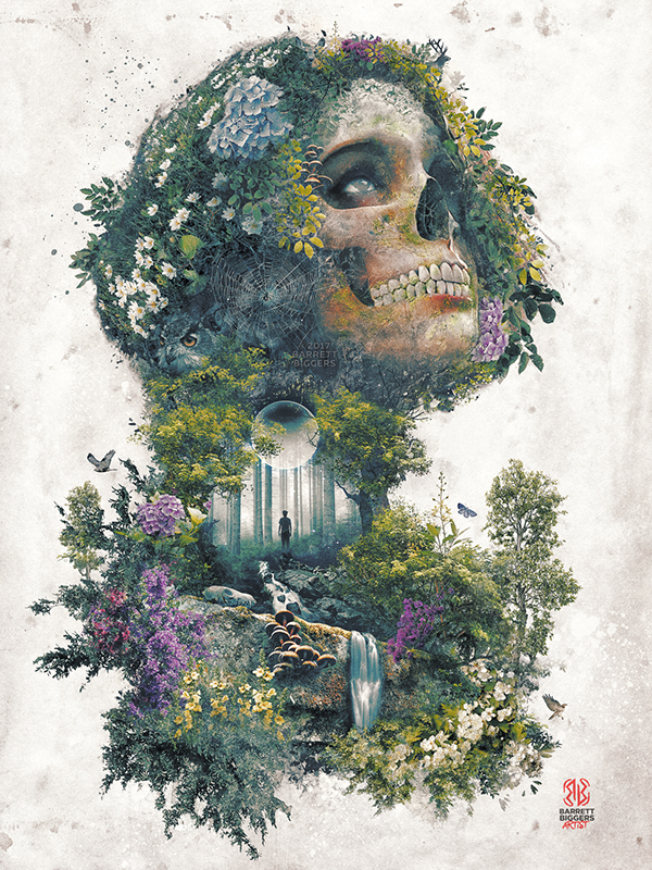 Life And Death My Nature Skull Surrealism Fantasy Art On
