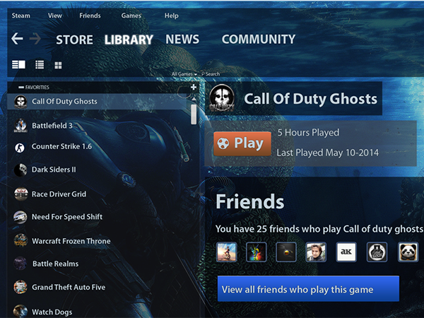 Steam Mobile Application User Interface Redesign on Behance |Steam User Interface