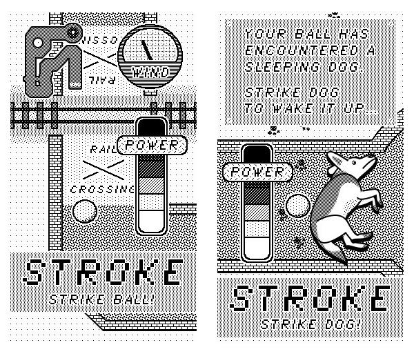 Retro Pixel art minigolf arcade MacPaint classic mac 8bit
