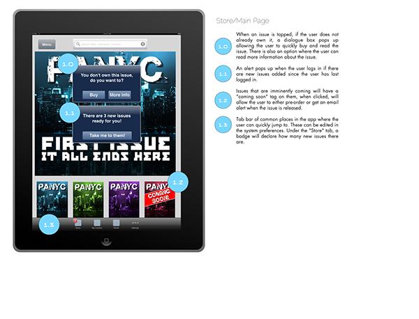 comics  mobile iPad OmniGraffle  UX  UI user interface design