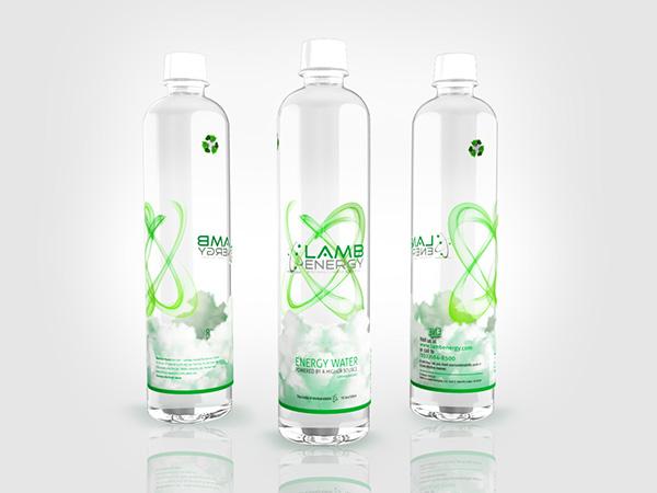 Water bottle label design on behance for Decor drink bottle