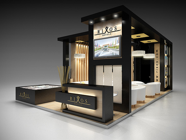 Wooden Expo Stands For : Rixos sharm el sheikh at wtm exhibition on behance