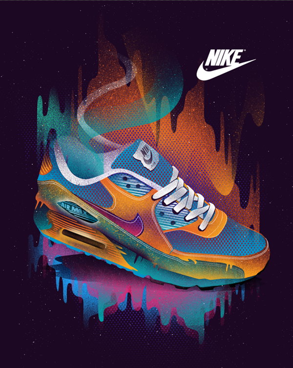 Gato de salto captura Vatio  NIKE AIR MAX Tee Space Design on Behance