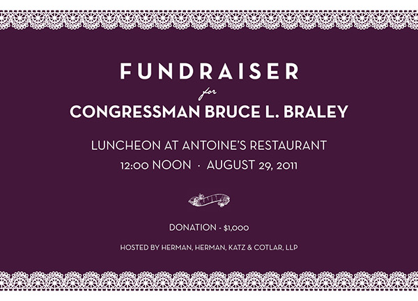 Braley Fundraiser Invitation On Behance