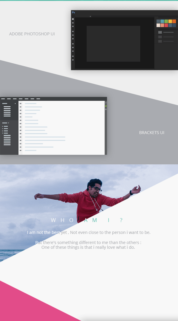personal UI designer developer ux development portfolio