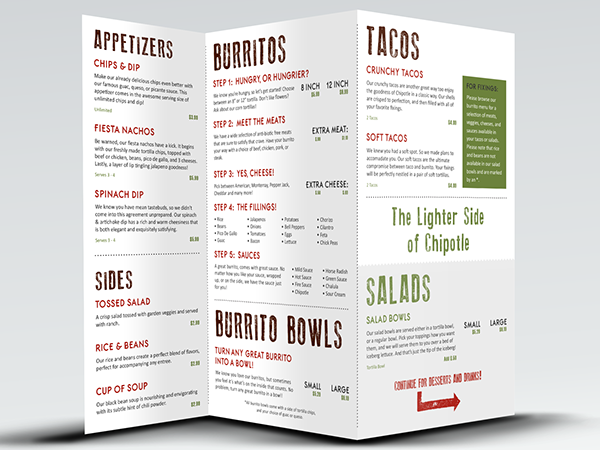 graphic relating to Chipotle Printable Menu named Chipotle Menu Reimagined upon Behance