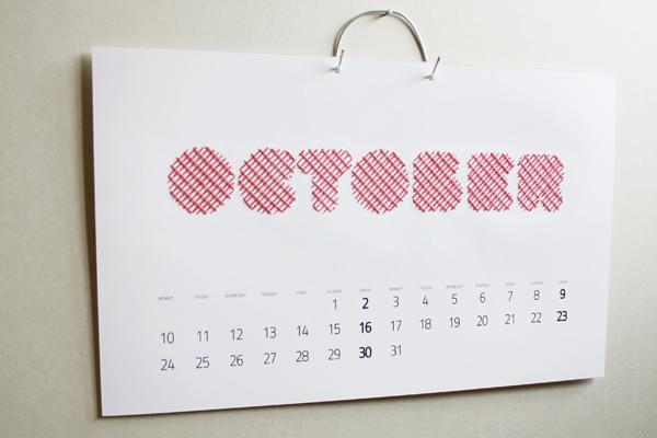 Calendar Typography Yamaha : Embroidery calendar on typography served