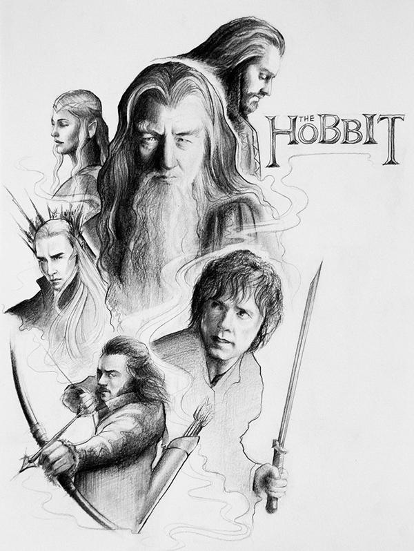 Hobbit Fan Art 2015 On Behance