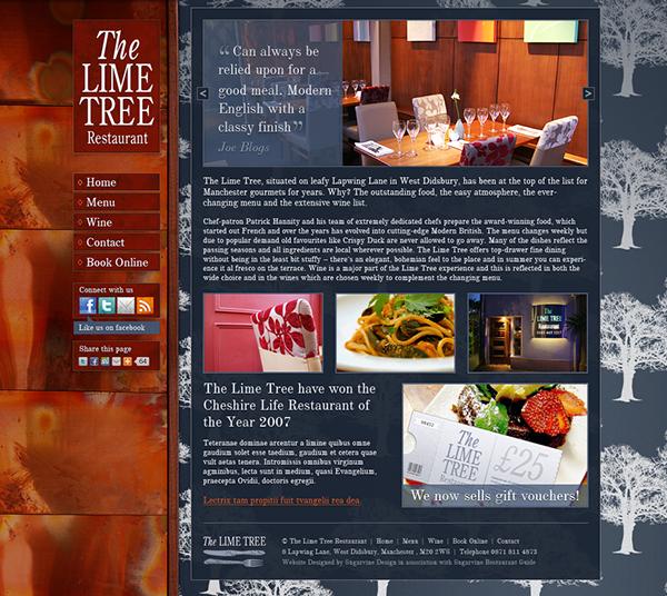 The Lime Tree Restaurant Desktop and Mobile Websites