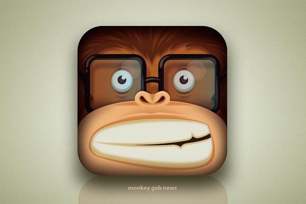 Icon digital  monkey ILLUSTRATION