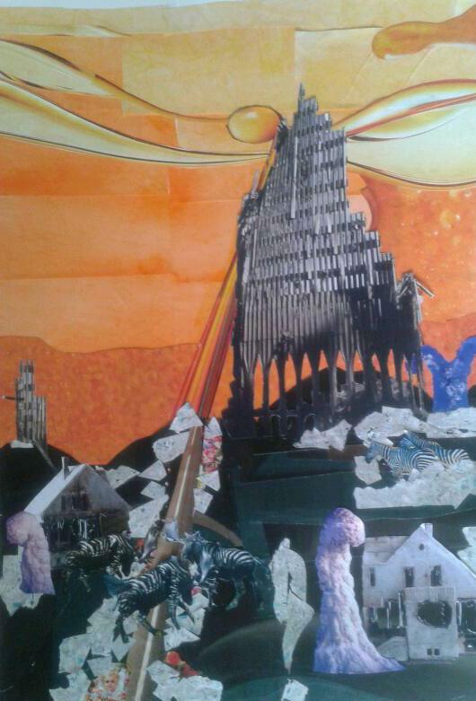 fantasy Sch-fi collage place
