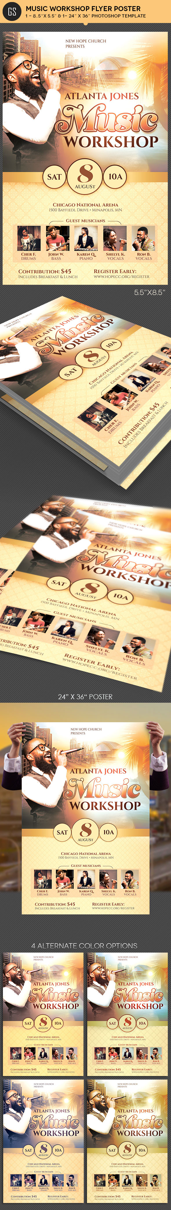 Music Workshop Flyer Poster Template On Behance