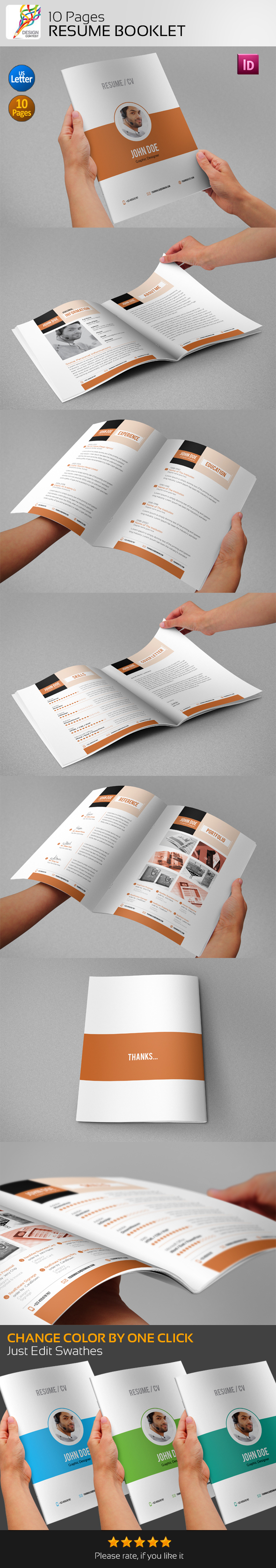 Resume Booklet  Pages On Behance