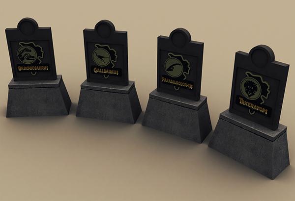 3D Autodesk jurassic park dinosaurs boat crysis crytek modelling rendering roadsign