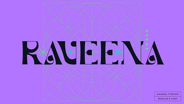 RAVEENA | Display Font