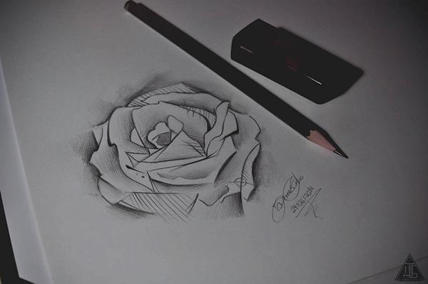 高品質的33個玫瑰花刺青欣賞