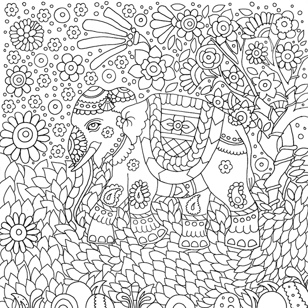Traditional Art Colouring Book For Adults on Student Show