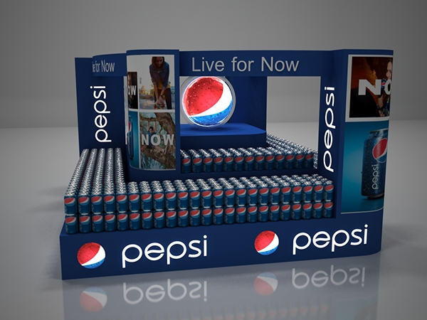 Pepsi Floor Display on Behance