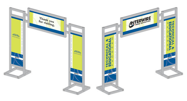 Entrance Trade Show Plexi : Trade show graphics interwire on behance
