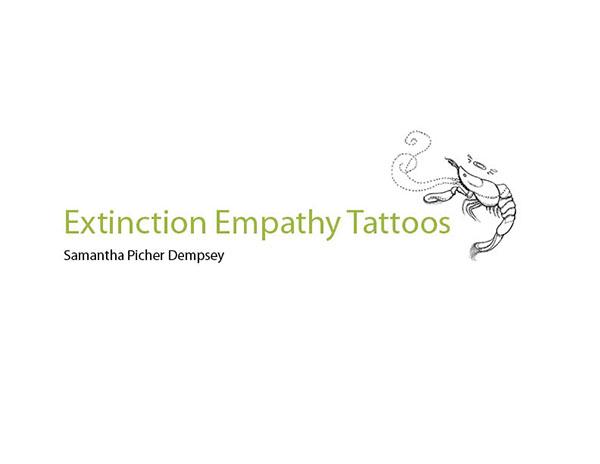 extinction empathy tattoos on risd portfolios. Black Bedroom Furniture Sets. Home Design Ideas