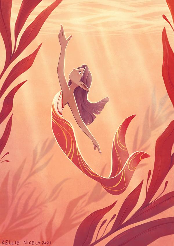Red Kelp - Cover Illustration