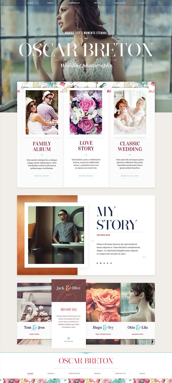website design part 1 on behance