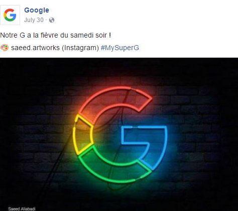 MySuperG google logo creative graphic design  branding  colours photoshop ilustrator neon