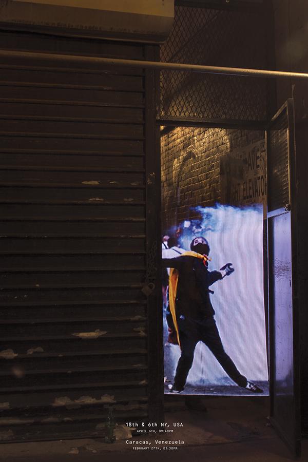 Arduino light DIY poster installation experience design protest political design social design venezuela advocacy Design Advocacy