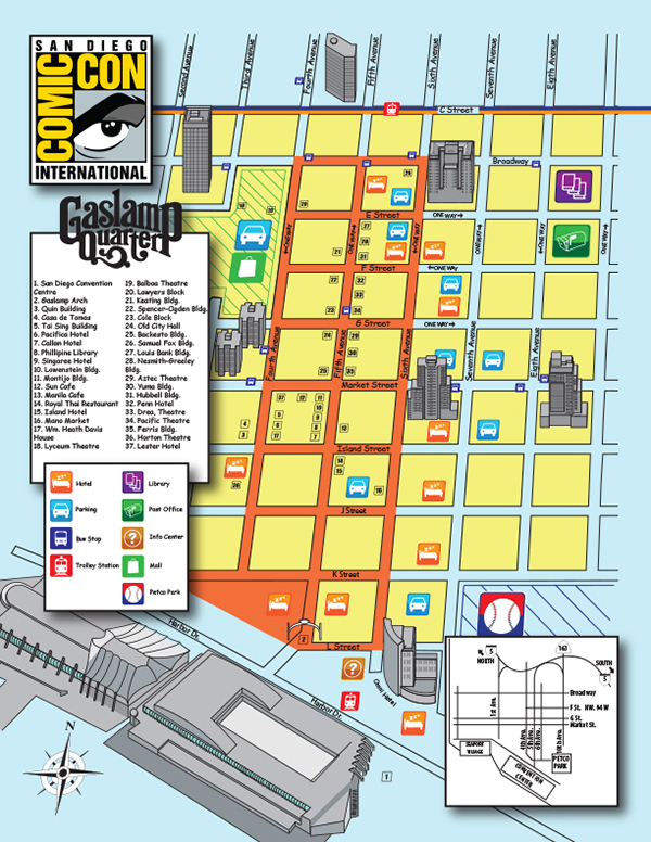 Gaslmap Comic-Con Map on Behance