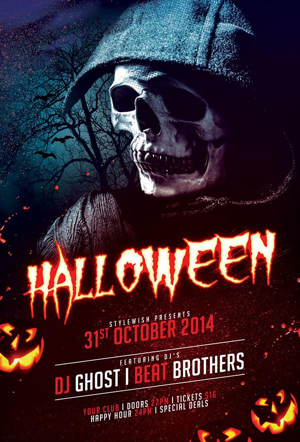 halloween flyer on behance