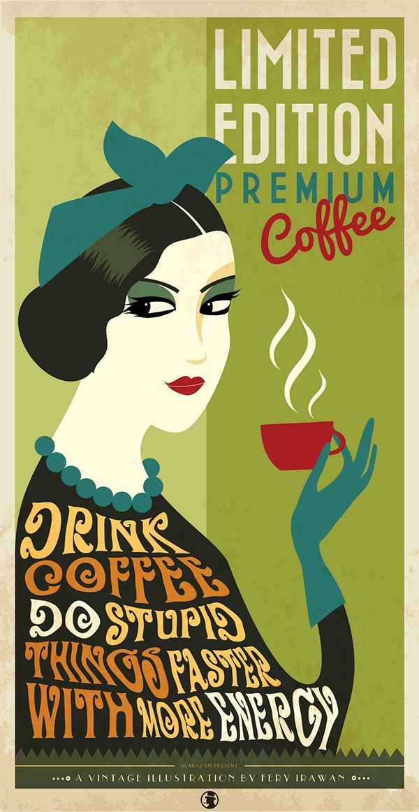 Coffee Posters Retro ~ Vintage coffee poster on behance