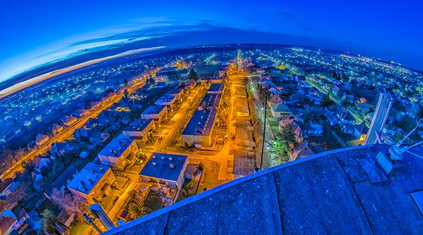 Tolna magyarország Tolna-megye hungary Water Tower water tower Víztorony Tolna Víztorony HDR Nikon D5100 samyang fisheye
