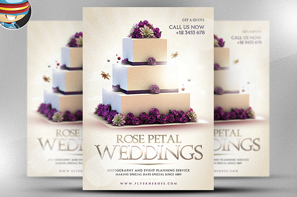 Wedding Flyer Template On Behance