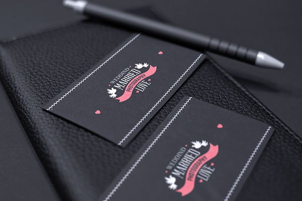 Black Business Card Mockup On Behance