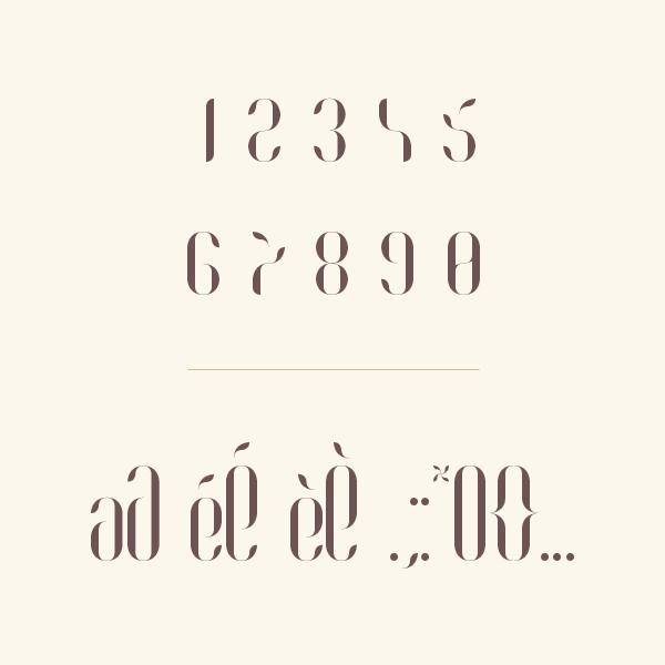 font free family type Typeface Typefamily Coco Moinzek fresh French French touch Fashion / Mode regular bold italic