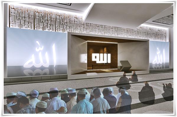 Modern minimalist home interior design - Al Ihsan Mosque Interior Setiabudhi Bandung On Behance