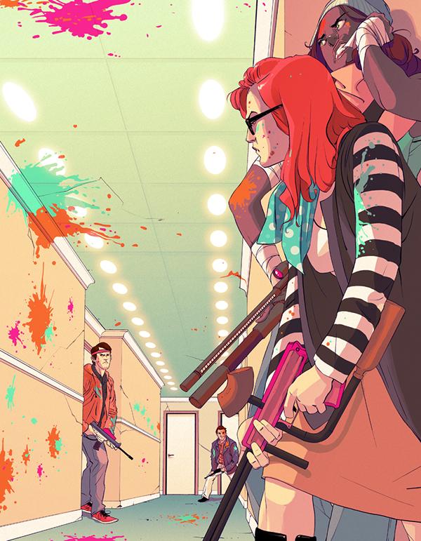 Teenage Wasteland Illustrations