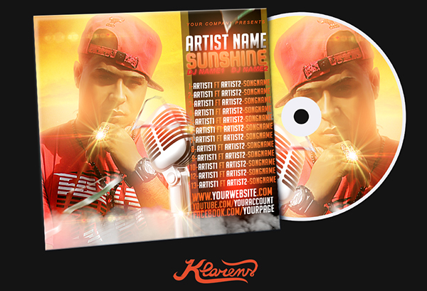 Sunshine Mixtape Cd Cover Free Psd Template On Behance