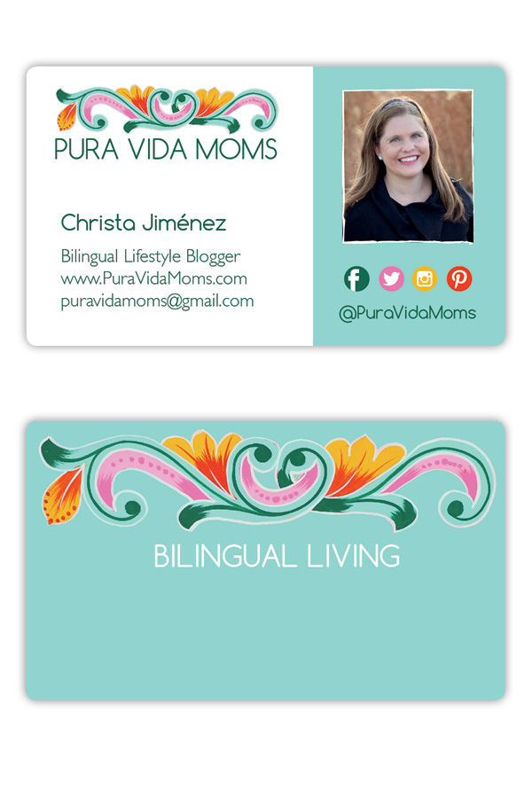 Pura Vida Moms logo and business cards on Behance