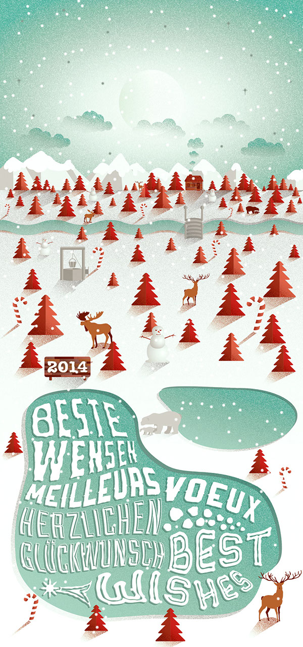 holiday cards on behance