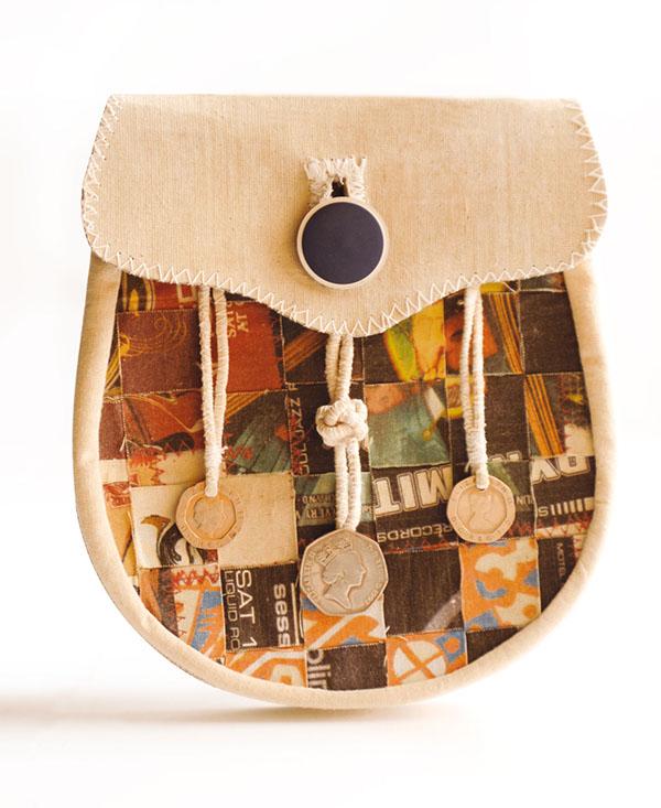 kilt art textile art recycling sporrans