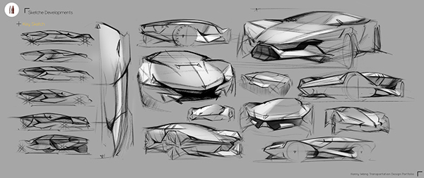Short Term Project Lamborghini Concept Design On Student Show