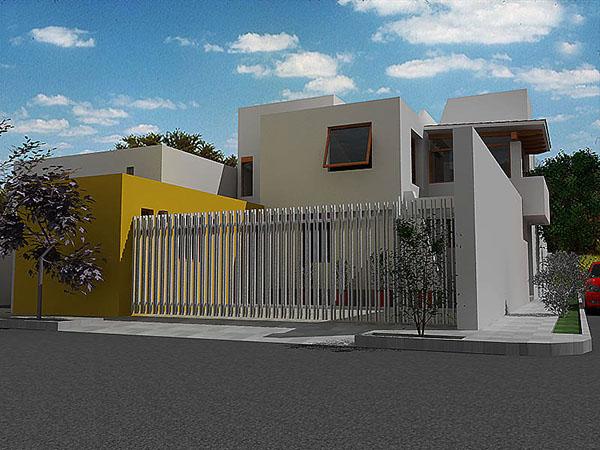 Proyecto casa habitaci n on behance for Proyecto casa habitacion minimalista