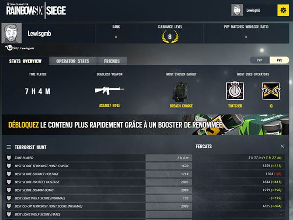 Rainbow Six Siege - Player stats WebApp on Behance Rainbow Six Siege Stats